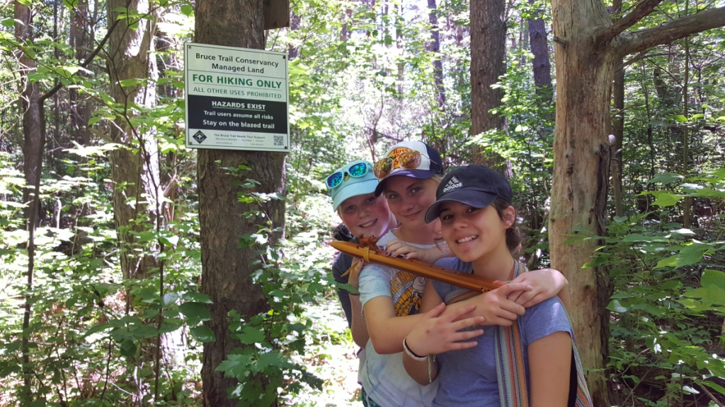 Girls at Bruce Trail Sign-small.jpg