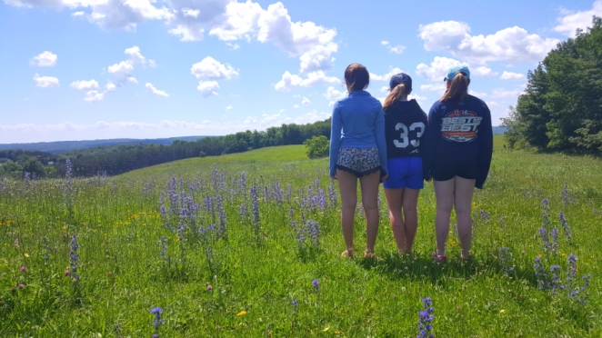 Girls viewing Cow Pie Hill-small.jpg